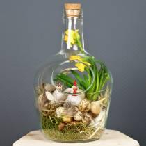 Vasija decorativa botella de vidrio con corcho Ø19cm H30cm