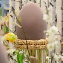 Huevo de Pascua flocado grande 40cm