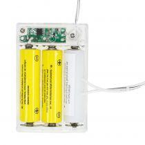 Adaptador de batería blanco 3m 4.5V 3 x AA