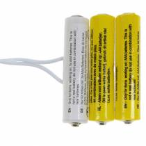 Adaptador de batería Blanco 3m 4.5V 3 x AAA