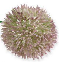 Flor de seda artificial Allium verde, cebolla ornamental rosa como flor artificial