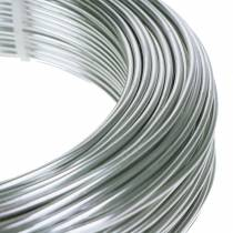 Alambre de aluminio 2mm 1kg plateado