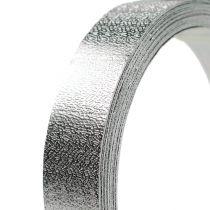 Cinta de aluminio alambre plano plateado mate 20mm 5m