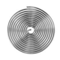 Tornillo de alambre tornillo de metal plateado 2 mm 120 cm 2 piezas