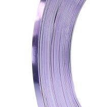 Alambre plano de aluminio lavanda 5mm 10m