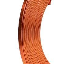 Alambre plano de aluminio naranja 5mm 10m