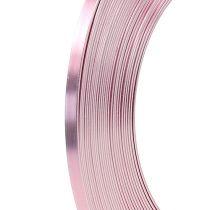Alambre plano de aluminio rosa 5mm 10m