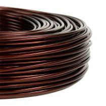 Alambre de aluminio Ø2mm 500g 60m marrón