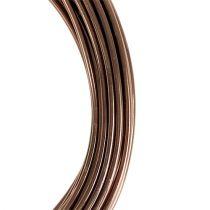 Alambre de aluminio marrón claro Ø2mm 12m
