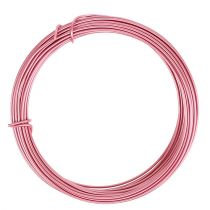Alambre de aluminio rosa Ø2mm 12m