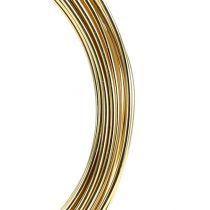 Alambre de aluminio 2mm 100g oro