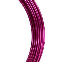 Alambre de aluminio 2mm 100g rosa