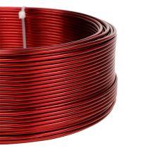 Alambre de aluminio rojo Ø2mm 500g (60m)