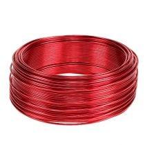 Alambre de aluminio rojo Ø2mm 500g 60m