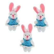 Colgante Bunny 5,5cm Azul 9pcs