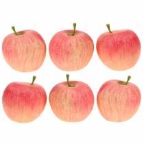 Manzana decorativa rosa, amarillo Real-Touch 6.5cm 6pcs