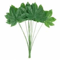 Hoja de aralia con tallo verde L61.5cm 12pcs