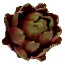 Alcachofa marrón, verde Ø10cm H11cm