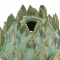 Florero decorativo arte shock cerámica verde Ø9.5cm H9cm