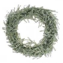 Corona de espárragos decorativa espárragos artificiales blanco, gris Ø32cm