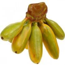 Racimo de plátano artificial, fruta decorativa, plátanos bebé L7–9cm