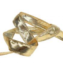 Banda con borde de alambre Oro 25m