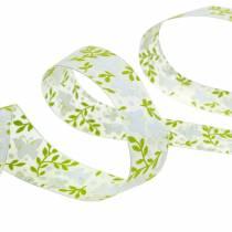 Cinta decorativa con mariposas 25mm cinta de organza verde cinta regalo 20m