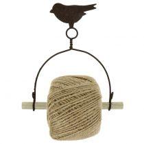 Soporte de banda pájaro para colgar con yute Al 19cm