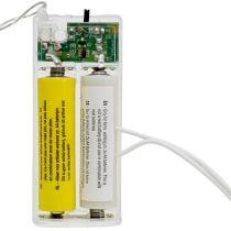 Adaptador de batería 3 voltios 2 x AA 3 m blanco