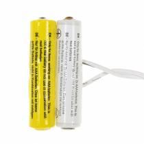 Adaptador de batería blanco 3m 3V 2 x AAA