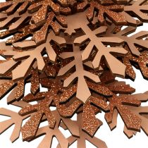 Decoración navideña Árbol para colgar con campana Color cobre 40cm