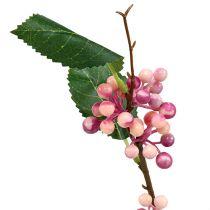 Rama de baya Artificial Rosa-Púrpura 64cm 6pcs