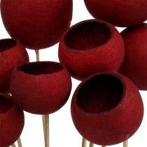 Bell Cup Mix en un palo rojo oscuro 15pcs
