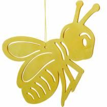Figura de madera abeja, decoración primaveral, abeja para colgar, insecto decorativo 6pcs