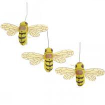 Clip decorativo abeja, decoración de primavera, abeja para sujetar, decoración de regalo 3 piezas