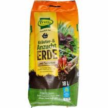 Hierba orgánica FRUX y tierra para macetas con arcilla natural tierra orgánica hierba suelo 18l