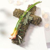 Cruz de espuma floral grande verde 53cm 2pcs joyas graves