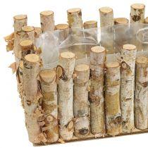 Jardinera caja abedul 36cm x 14cm