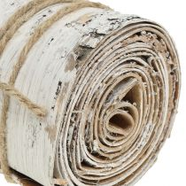 Rollo de corteza de abedul blanco lavado 10cm x 2.5m