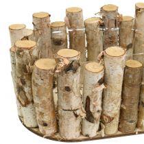 Jardinera cuenco abedul ovalado 30,5cm x 13cm