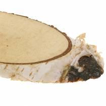 Rebanadas de madera de abedul Ovalado Natural 4×8cm 1kg