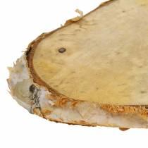 Rebanadas de madera de abedul ovalado natural 7,5×13cm 1kg