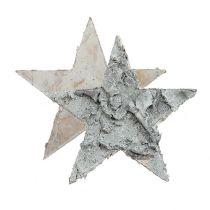 Estrella de abedul dispersa encalada Ø4cm 80p