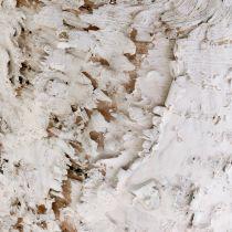 Maceta decorativa abedul blanqueado Ø18cm H15cm