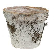 Birkentopf con borde medio Ø16cm H13cm blanco