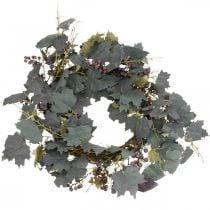 Guirnalda decorativa hojas de vid y uvas Guirnalda de otoño vides Ø60cm
