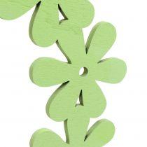 Corona de flores de madera en verde Ø35cm 1pc