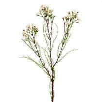 Rama floreciente verde, blanco 80cm 3pcs