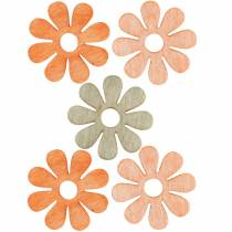 Flores para espolvorear, decoración primaveral, flores de madera, flores decorativas para espolvorear 144St