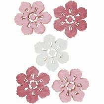 Flores de cerezo esparcidas, flores de primavera, decoraciones de mesa, flores de madera para esparcir 144St